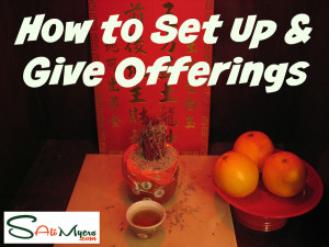 ancestor altar how to set up and give offerings