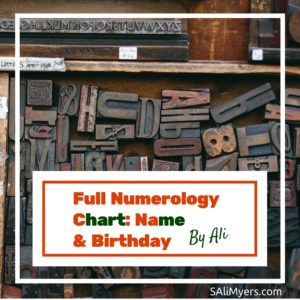 Full Numerology Chart Name and Birthday