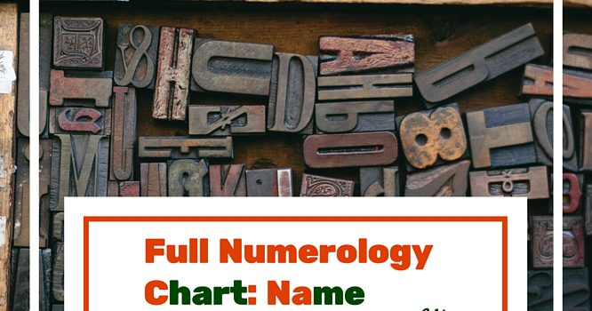 How to Get Your Full Numerology Chart (Name & Birthday)